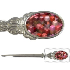 Artistic Cubes 9 Pink Red Letter Openers
