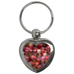 Artistic Cubes 9 Pink Red Key Chains (Heart)