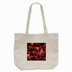 Artistic Cubes 9 Pink Red Tote Bag (Cream)