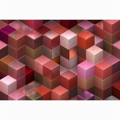Artistic Cubes 9 Pink Red Collage 12  x 18