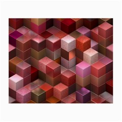 Artistic Cubes 9 Pink Red Small Glasses Cloth (2-Side)