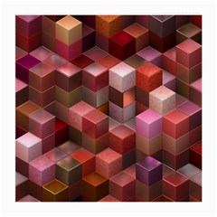 Artistic Cubes 9 Pink Red Medium Glasses Cloth (2-Side)