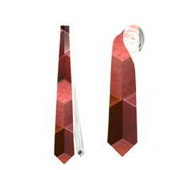 Artistic Cubes 9 Pink Red Neckties (two Side)