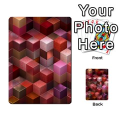 Artistic Cubes 9 Pink Red Multi Purpose Cards (rectangle)