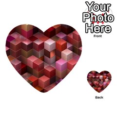 Artistic Cubes 9 Pink Red Multi Purpose Cards (heart)