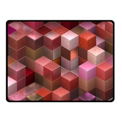 Artistic Cubes 9 Pink Red Fleece Blanket (Small)