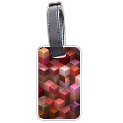 Artistic Cubes 9 Pink Red Luggage Tags (One Side)