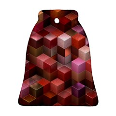 Artistic Cubes 9 Pink Red Ornament (bell)