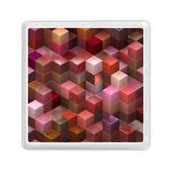 Artistic Cubes 9 Pink Red Memory Card Reader (square)