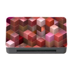 Artistic Cubes 9 Pink Red Memory Card Reader With Cf