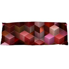 Artistic Cubes 9 Pink Red Body Pillow Cases Dakimakura (Two Sides)