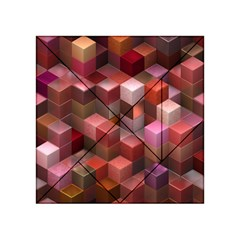 Artistic Cubes 9 Pink Red Acrylic Tangram Puzzle (4  x 4 )