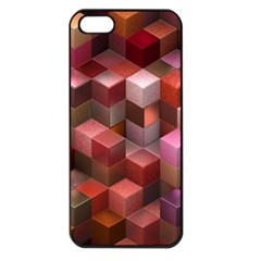 Artistic Cubes 9 Pink Red Apple iPhone 5 Seamless Case (Black)