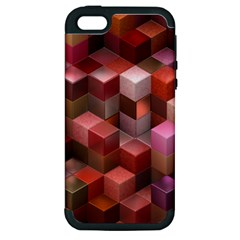 Artistic Cubes 9 Pink Red Apple iPhone 5 Hardshell Case (PC+Silicone)