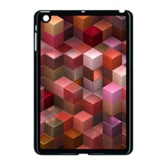 Artistic Cubes 9 Pink Red Apple iPad Mini Case (Black)