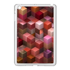 Artistic Cubes 9 Pink Red Apple iPad Mini Case (White)