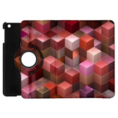Artistic Cubes 9 Pink Red Apple iPad Mini Flip 360 Case