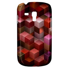 Artistic Cubes 9 Pink Red Samsung Galaxy S3 MINI I8190 Hardshell Case