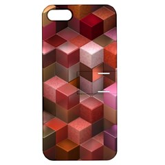 Artistic Cubes 9 Pink Red Apple iPhone 5 Hardshell Case with Stand