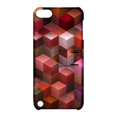Artistic Cubes 9 Pink Red Apple iPod Touch 5 Hardshell Case with Stand