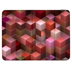 Artistic Cubes 9 Pink Red Samsung Galaxy Tab 7  P1000 Flip Case