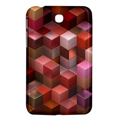 Artistic Cubes 9 Pink Red Samsung Galaxy Tab 3 (7 ) P3200 Hardshell Case