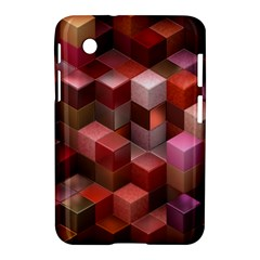 Artistic Cubes 9 Pink Red Samsung Galaxy Tab 2 (7 ) P3100 Hardshell Case