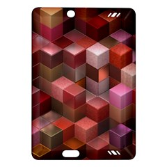 Artistic Cubes 9 Pink Red Kindle Fire Hd (2013) Hardshell Case
