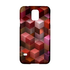 Artistic Cubes 9 Pink Red Samsung Galaxy S5 Hardshell Case