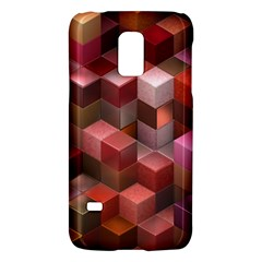 Artistic Cubes 9 Pink Red Galaxy S5 Mini