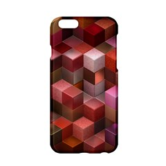Artistic Cubes 9 Pink Red Apple iPhone 6/6S Hardshell Case