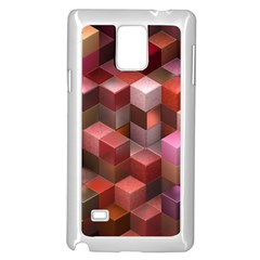 Artistic Cubes 9 Pink Red Samsung Galaxy Note 4 Case (white)