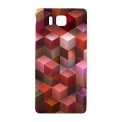 Artistic Cubes 9 Pink Red Samsung Galaxy Alpha Hardshell Back Case