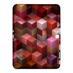 Artistic Cubes 9 Pink Red Samsung Galaxy Tab 4 (10.1 ) Hardshell Case