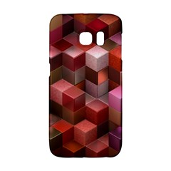 Artistic Cubes 9 Pink Red Galaxy S6 Edge