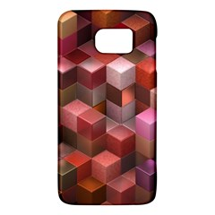 Artistic Cubes 9 Pink Red Galaxy S6