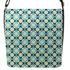Yellow Blue Muted Flap Closure Messenger Bag (Small)