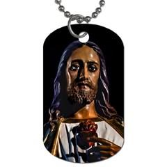 Jesus Christ Sculpture Photo Dog Tag (One Side)