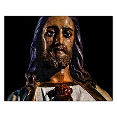 Jesus Christ Sculpture Photo Rectangular Jigsaw Puzzl