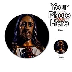 Jesus Christ Sculpture Photo Multi-purpose Cards (Round)