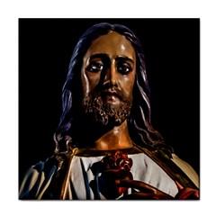 Jesus Christ Sculpture Photo Face Towel