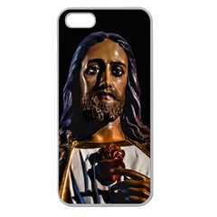 Jesus Christ Sculpture Photo Apple Seamless iPhone 5 Case (Clear)
