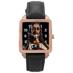 Jesus Christ Sculpture Photo Rose Gold Watches
