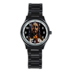 Jesus Christ Sculpture Photo Stainless Steel Round Watches