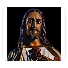 Jesus Christ Sculpture Photo Double Sided Flano Blanket (small)