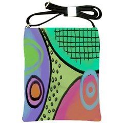 Funky Abstract Painting On Shoulder Sling Bag