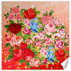 Pretty Sparkly Roses Canvas 20  x 20