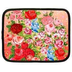 Pretty Sparkly Roses Netbook Case (Large)