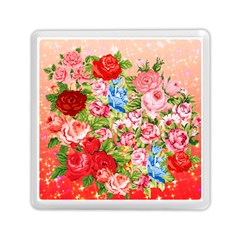 Pretty Sparkly Roses Memory Card Reader (Square)