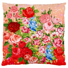 Pretty Sparkly Roses Large Cushion Cases (Two Sides)
